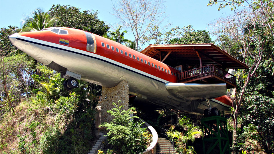 Converted Airplane - Puntaneras, Costa Rica
