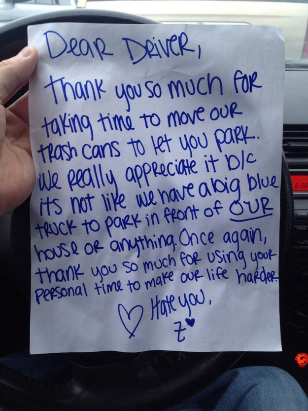 Hilarious Windshield Notes You Have To See Page 51 Of