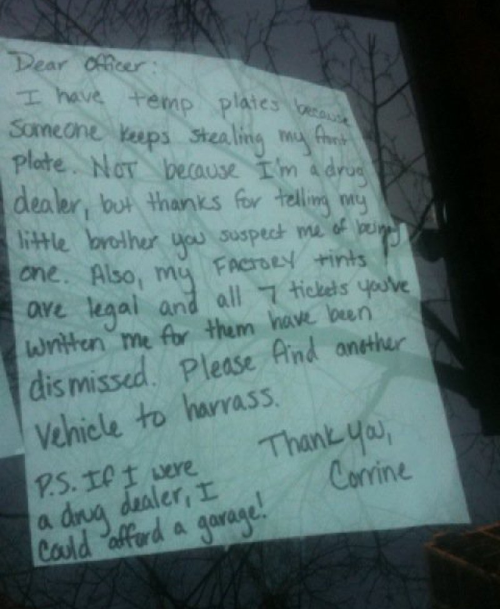 20 hilarious windshield notes you have to see